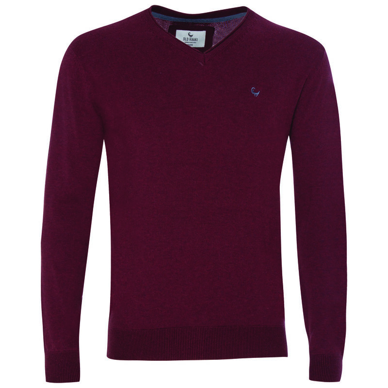 Rustin Men's Pullover -  burgundy