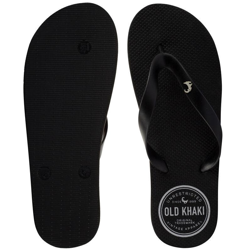 Old Khaki Men's Pacifico Thong  -  black-black