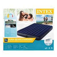Intex Durabeam Queen highrise 220v Airbed -  blue-blue