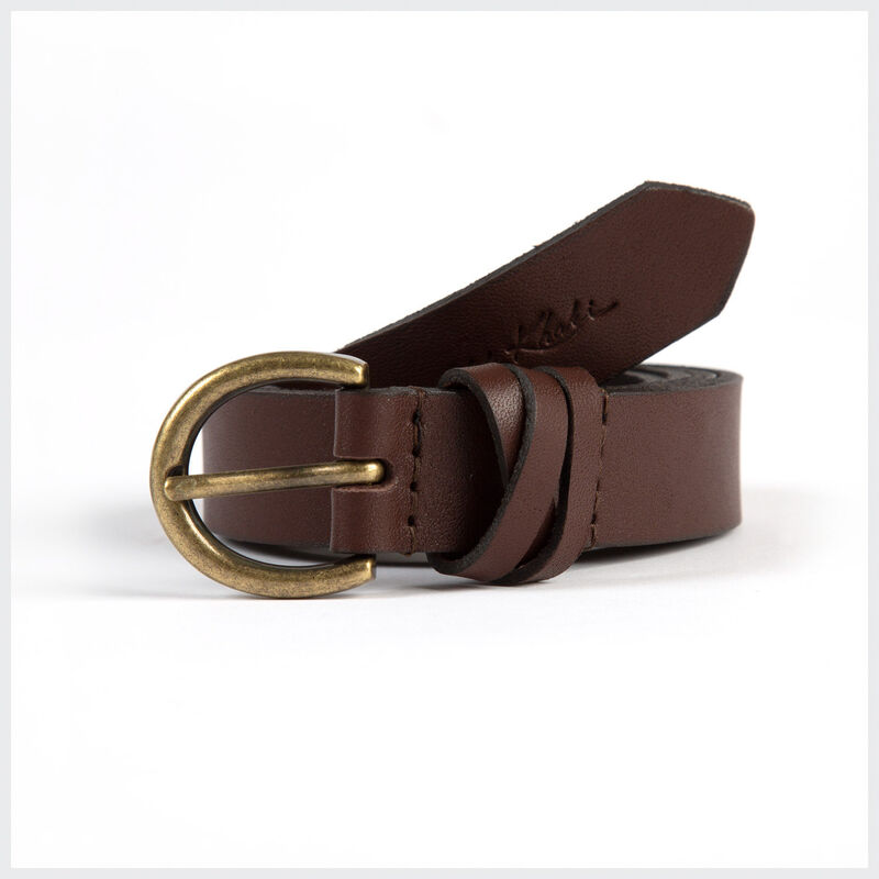 Taliya Leather Loop Detail  Belt -  brown