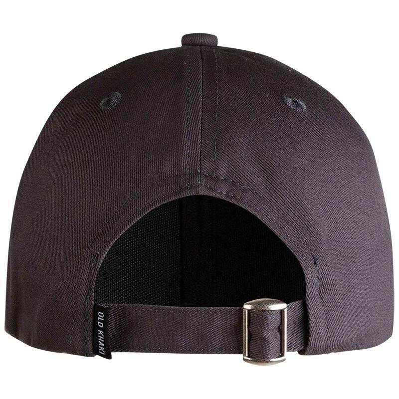 Enoch Round Branded Peak Cap -  charcoal