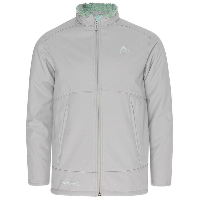 K-Way Kids Lynx 3-Ply Sherpa Softshell Jacket -  lightgrey-mint