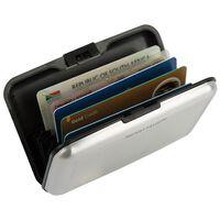 K-Way RFID Aluminium Wallet Case -  silver-silver